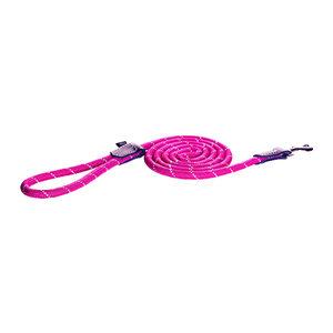 Rogz Rope Line Fixed Lead - Roze - 180 cm / 6 mm