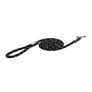 Rogz Rope Line Fixed Lead Zwart 180 cm   6 mm