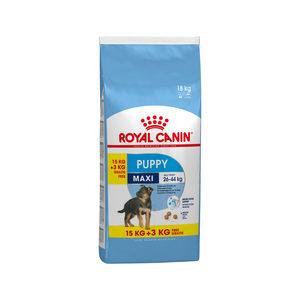 Royal Canin Maxi Puppy hondenvoer 15 + 3 kg gratis