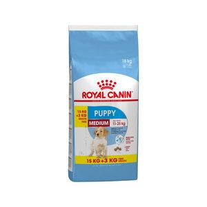 Royal Canin Medium Puppy hondenvoer 15 + 3 kg gratis