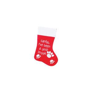 Santa Kerstsok – Santa, I've been a good doggie