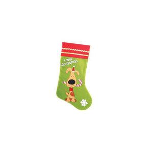 Santa Stocking Dog