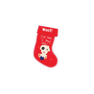 Santa Kerstsok - Woof! I've been a good dog kopen