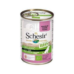 Schesir Hond Biologisch Adult - Varken - 6 x 400 g blikken