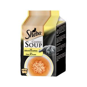 Sheba Classic Soup Kipfilet - Multipack - 4 x 40 g