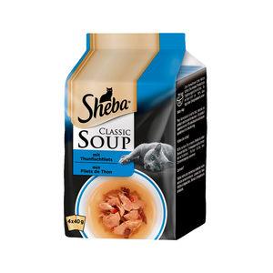 Sheba Classic Soup Tonijn - Multipack - 4 x 40 g