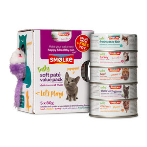 Smølke Soft Paté Actiepack - 5 x 80 g + gratis speelmuisje