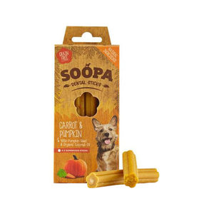 Soopa Dental Stick Pompoen & Wortel