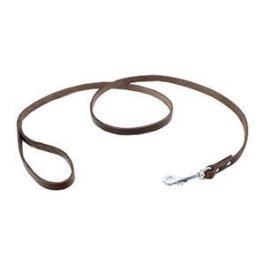 Tijssen Halsband & Lijn Vetleer - Bruin - Lijn - 12 mm x 130 cm
