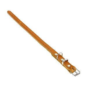 Tijssen Halsband & Lijn Vetleer – Cognac – Halsband – 12 mm x 35 cm
