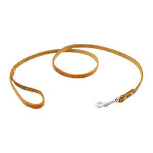 Tijssen Halsband & Lijn Vetleer - Cognac - Lijn - 12 mm x 130 cm