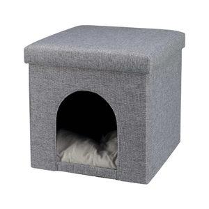 Trixie Cuddly Cave Kattenpoef Alois – Grijs
