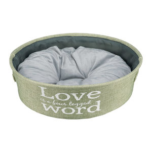 Trixie ''LOVE is a four Legged WORD'' Hondenmand - Groen - ø 45 cm