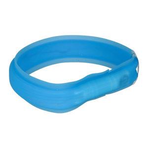 Trixie USB Flash Light Band - M / L - Blauw - 30 mm Breed - Langhaar