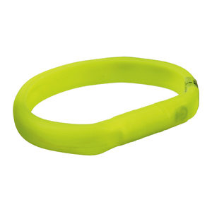 Trixie USB Flash Light Band – XS / S – Groen – 18 mm Breed