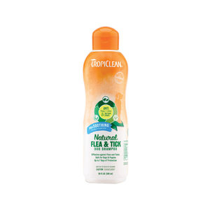 TropiClean Natural Flea & Tick Shampoo Plus Soothing - 355 ml