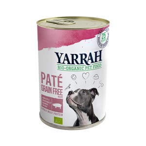Yarrah - Paté Hond Blik met Varken Bio - 12 x 400 gram
