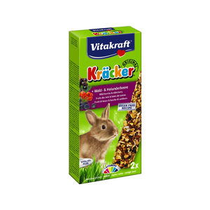 Vitakraft Konijn Kracker - Konijnensnack - Bosbessen