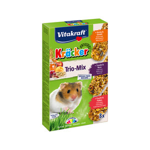 Vitakraft Kräcker Trio-Mix Hamster - Honing, Noot & Fruit