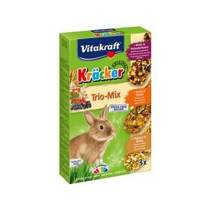 Vitakraft Kräcker Trio-Mix Konijn - Bosbessen, Honing & Popcorn