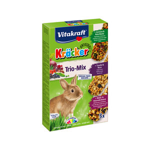 Vitakraft Kräcker Trio-Mix Konijn - Groente, Noot & Bosbessen