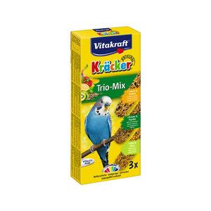 Vitakraft Kräcker Trio-Mix Parkiet - Banaan, Kruiden & Kiwi