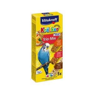 Vitakraft Kräcker Trio-Mix Parkiet - Honing, Sinaasappel & Popcorn