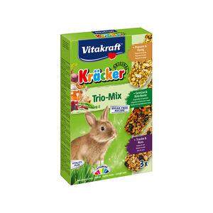 Vitakraft Konijn Kracker 3in1 - Konijnensnack - Musli&Groenten&Popcorn