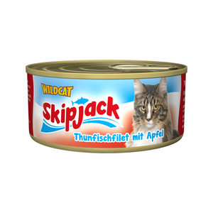 Wildcat Skipjack Wet – Tonijn met Appel – 24 x 70 g