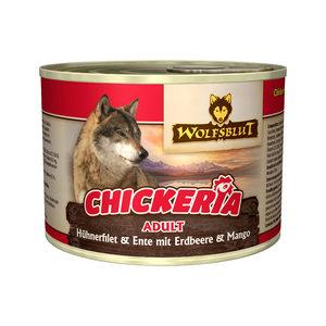 Wolfsblut Chickeria Adult Wet - Kip & Eend met Aardbei & Mango - 3 x 190 g
