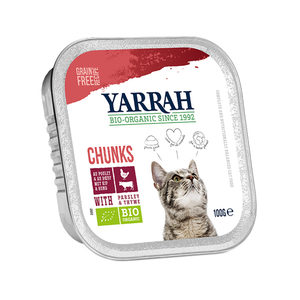 Yarrah - Adult Cat Beef Chunks with Parsley & Thyme Bio 16x100 g