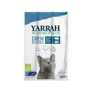 Yarrah – Kattensnack Chew Stick met Vis Bio – 15 g