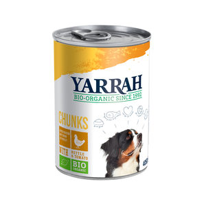 Yarrah - Natvoer Hond Blik Chunks met Kip Bio - 12 x 405 g kopen