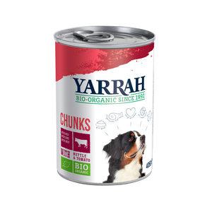 Yarrah - Natvoer Hond Blik Chunks met Rund Bio - 12 x 405 g kopen
