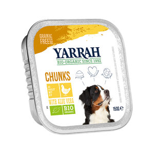 Yarrah - Natvoer Hond Kuipje Chunks met Kip Bio - 12 x 150 g kopen