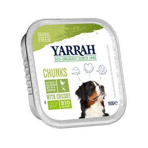 Yarrah - Natvoer Hond Kuipje Chunks met Kip & Groenten Bio - 12 x 150 g kopen
