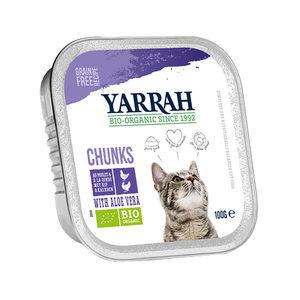 Yarrah - Natvoer Kat Kuipje Chunks met Kip & Kalkoen Bio - 16 x 100 g kopen
