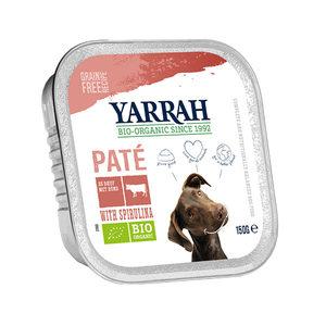 Yarrah – Natvoer Kuipje Paté met Rund en Kip – 12 x 150 g