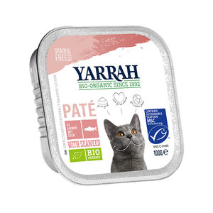 Yarrah - Paté Kat Kuipje met Zalm Bio - 16 x 100 g kopen